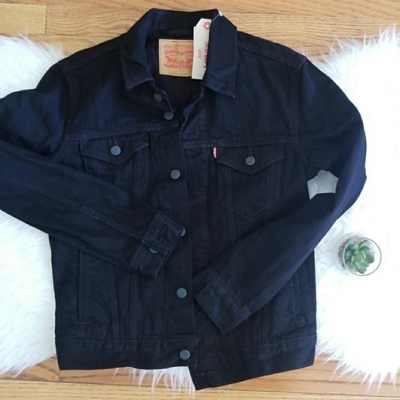 Levi's Other - Levis Trucker Black Denim Jacket